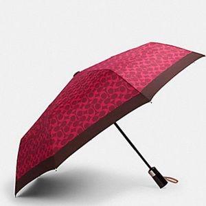 Authentic Coach Nylon Sm signature Umbrella/Sleeve